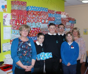Pupils from Marshfields School donate Christmas gifts