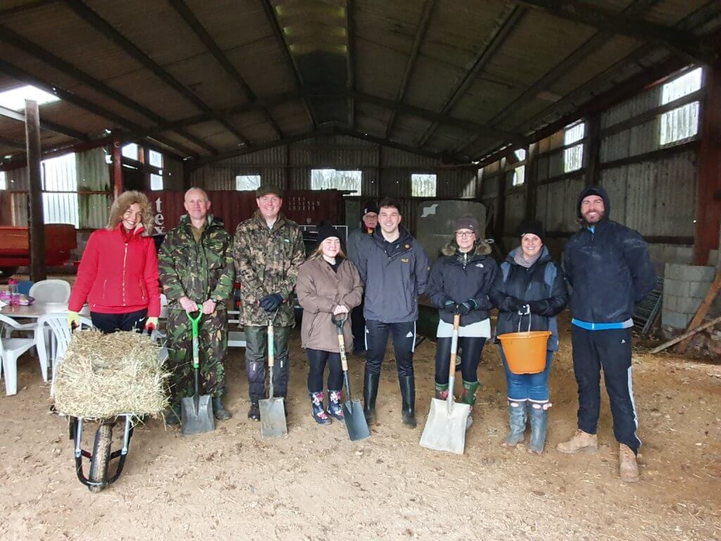 Green Leap day - our staff stood in a barn setting